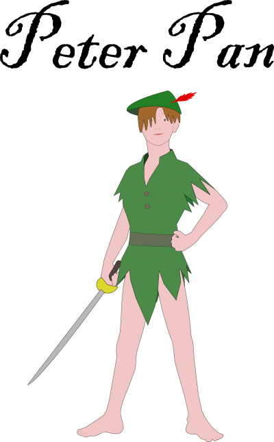 Sword Bearing Peter Pan Png PNG Images