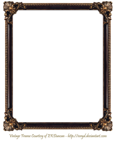 Antique Brown Photo Frame With Floral Pattern Border Transparent Free PNG Images
