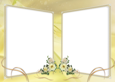 Beautiful Wedding Marriage Themed Photo Frame Transparent Background PNG Images