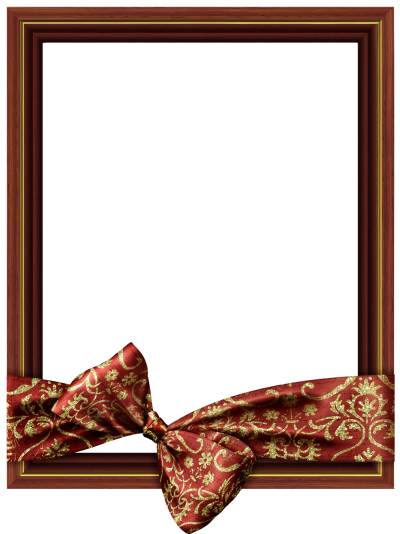 Brown Png Classic Transparent Frame With Ribbon PNG Images