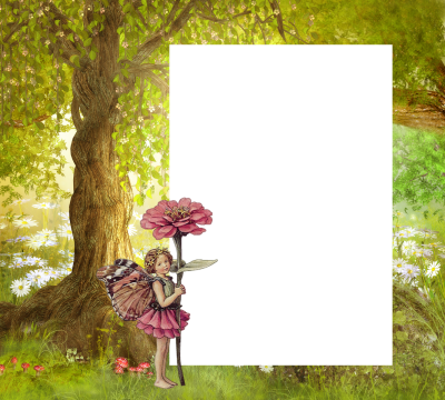 Forest With Children Photo Frame Png Free PNG Images