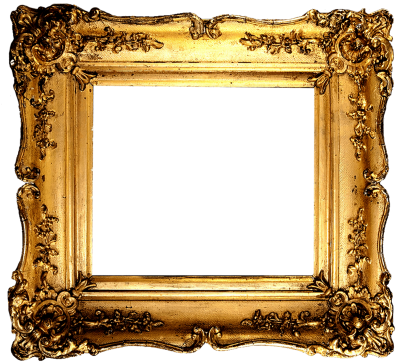 Gold Color Square Photo Frame With Black Border Png Free PNG Images