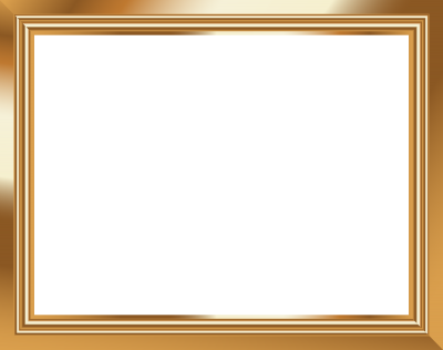 Gold Lined Photo Frame Png Transparent PNG Images