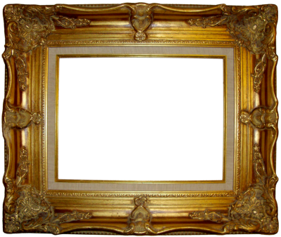 Old Brown Golden Photo Frame Transparent Hd PNG Images