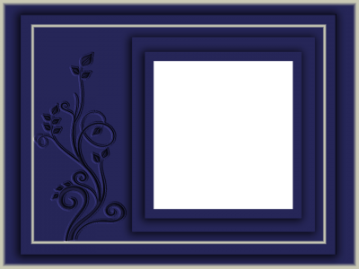 Photo Frame Hd Png Texture Blue PNG Images
