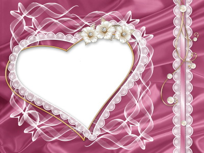 Pink Elegant Love Heart Photo Frame Free Transparent PNG Images