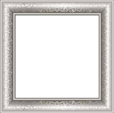Silver Transparent Png Photo Frame With Ornaments PNG Images