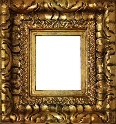 Vintage Photo Frame With Gold Color Pattern Png Hd PNG Images