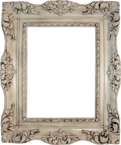 White Vintage Square Photo Frame Png Hd PNG Images