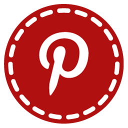Pinterest Hand Stitch Round Social Icons Png