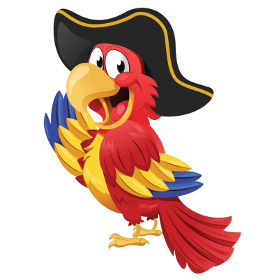 Parrot Pirate Transparent Background PNG Images