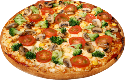 Veggie Whole Pizza Hd Download, Broccoli, Tomato, Mushroom PNG Images