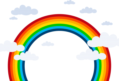 Rainbow Cut Out Png PNG Images