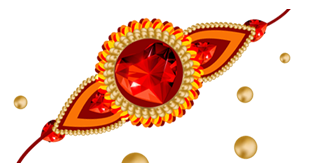 Red, Diamonds, Rubies, Gold, Beads, Rakhi Png Pictures