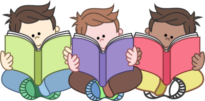 Cartoon, Children Are Reading Png Transparent Free Download PNG Images