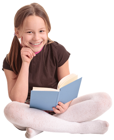 Real Cute Books Girl Reading Png Clipart Photos PNG Images