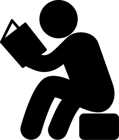 Black Drawing, Man, Reading Png Hd, Book, PNG Images