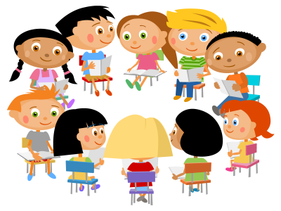 School, Book, Cute Kids, Reading Transparent Background Free PNG Images