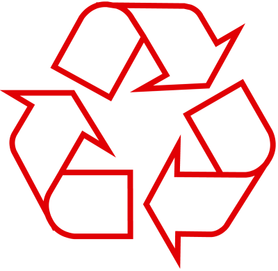 Red The Original Recycle Logo Images PNG Images