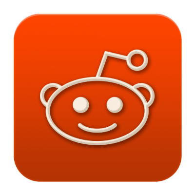 Orange Reddit Flat Social Media Icons Png