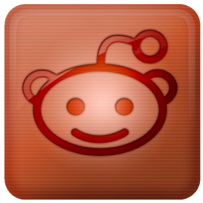 Reddit Glowing Social Network Icons Png