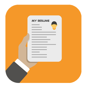 Resume Orange Hd Image PNG Images