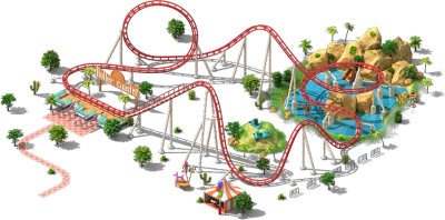 Amusement Park Roller Coaster Png PNG Images