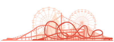 Red Roller Coaster Png PNG Images