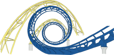 Roller Coaster Tracks Clipart Png