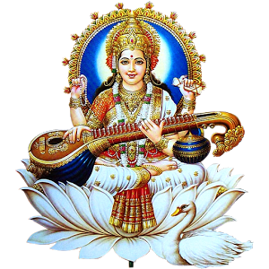 Saraswati Lord Devi Simple PNG Images