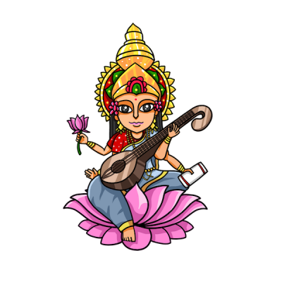 Saraswati Icon Clipart PNG Images