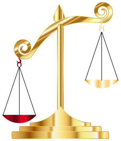Golden Off Balance Scale Pictures PNG Images