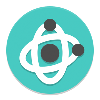 Turquoise Atom Science Png icon PNG Images