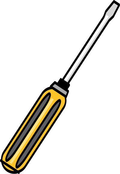 Screwdriver Printed Simple PNG Images