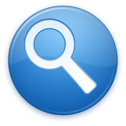 Search Button Blue Symbol Icon Clipart