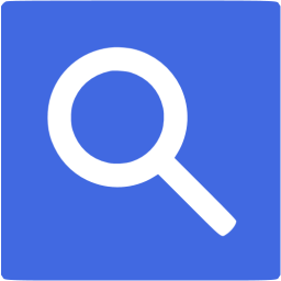 Search Button Square Blue Free PNG