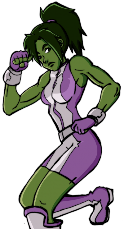 She Hulk Vector PNG Images