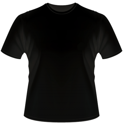 Simple Black T Shirt Transparent