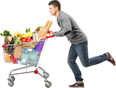 Boy Goes Shopping Picture PNG Images