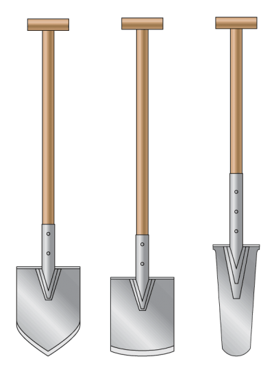 Silver Shovel Clipart Photo PNG Images