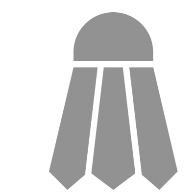 Grey Shuttlecock Icon Png