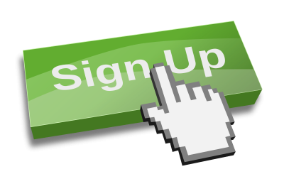 Sign Up Button Transparent Image PNG Images