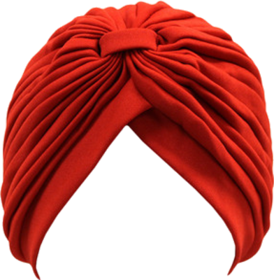 Red Sikh Turban Png PNG Images