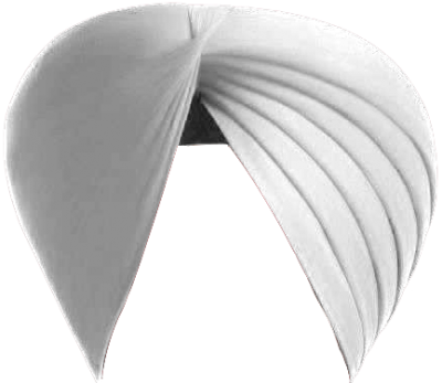 Sikh Turban White High Quality PNG