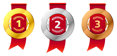 Colorful Medals Images Clipart PNG Images