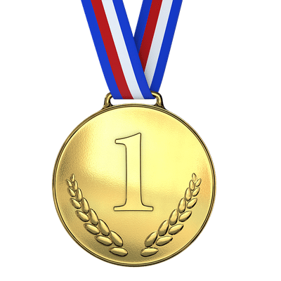One Silver Medal Transparent Png