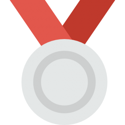 Red Silver Medal Sports Icons Png