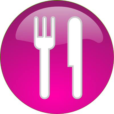 Silverware, Circle, Fork, Knife, Purple Png PNG Images
