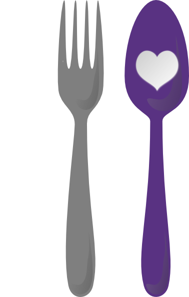 Spoon, Fork, Cutlery Heart Clip Art At