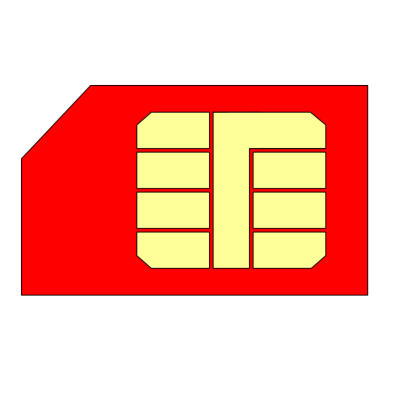 Red Sim Card Transparent Picture PNG Images
